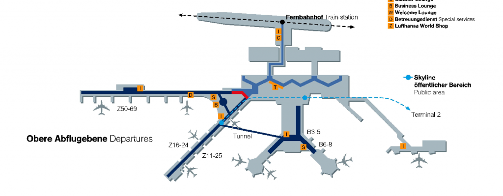 Flughafen Frankfurt Abflug