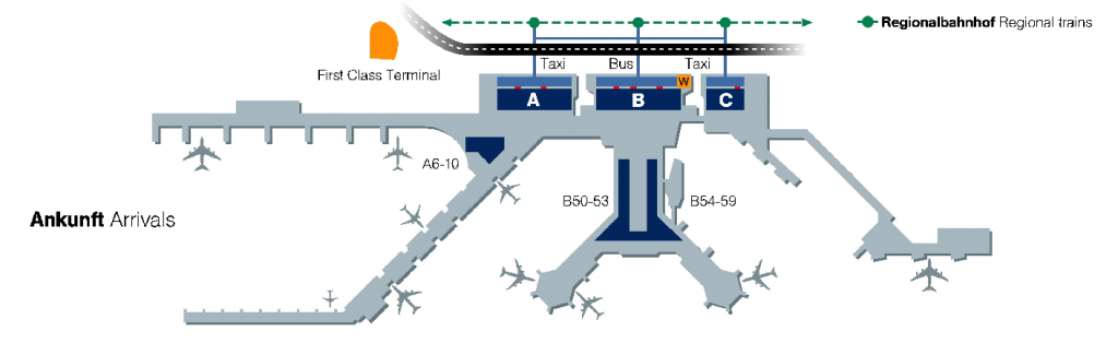 Flughafen Frankfurt Terminal 1 Ankunft