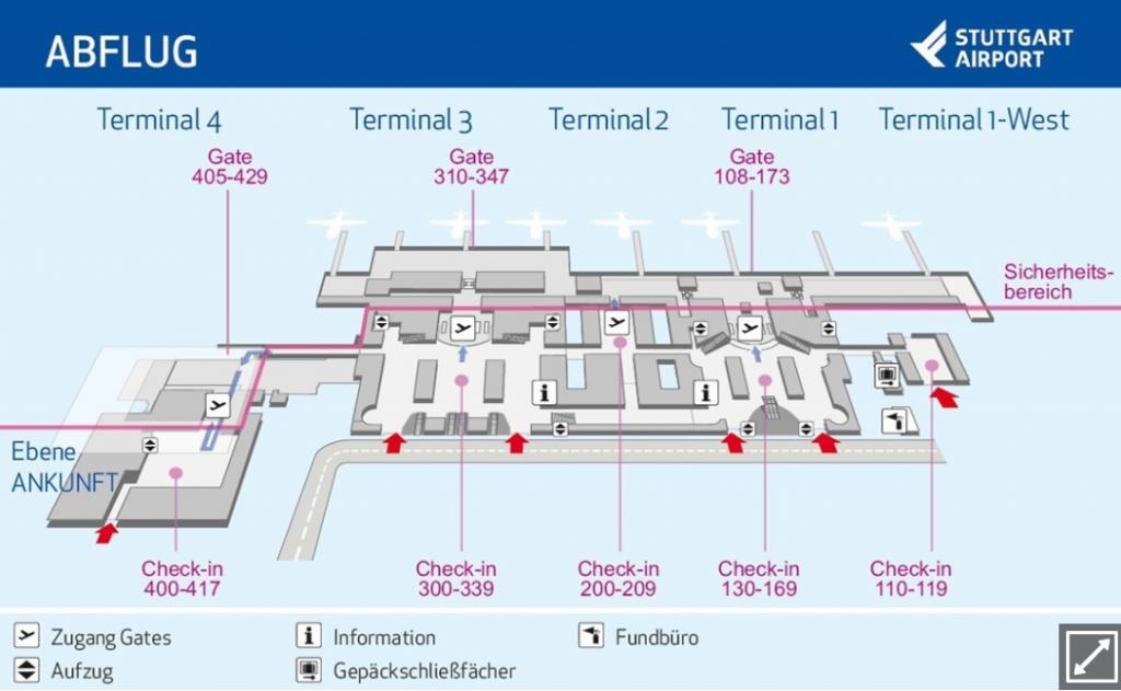 Flughafen Stuttgart Abflug