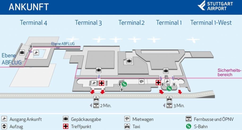 Flughafen Stuttgart Ankunft