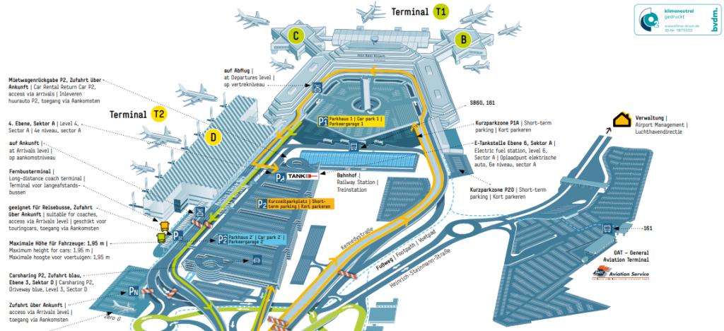 Flughafen Köln Abflug